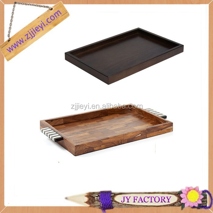 Cheap wooden gifts crafts rectangular antique wooden serving tray for hotel