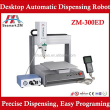 manufacturer price adhesive glue dispensing ZM-300ED smt iphone frame glue dispensing robot