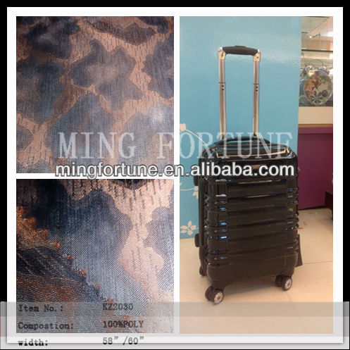 Korea Polyester memory fabric with large jacquard for luggage