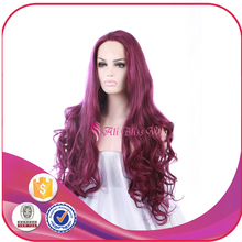 Aliexpress 22 Inch Long Burgundy Natural Loose Wave Heat Resistant Japanese Fiber Synthetic Lace Front Wig for White Women
