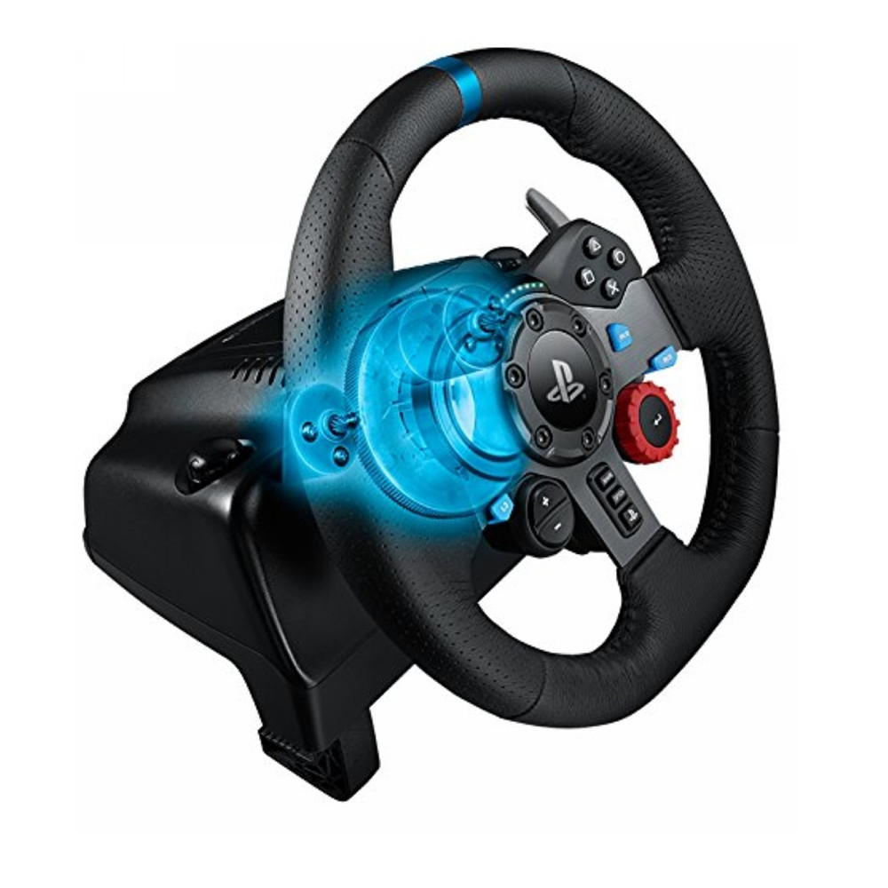 Logitech G29 Metal Leather Driving Racing Wheel For Playstation 3 For Playstation 4 PC Gaming