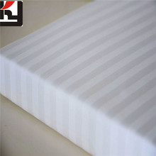 High Quality Cotton stain stripe fabric 1cm / 3 cm white and dyeing for hotel bedsheet