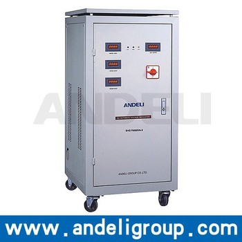 SVC LED Displayed Three Phase Servo Motor Voltage Stabilizer or Regulator