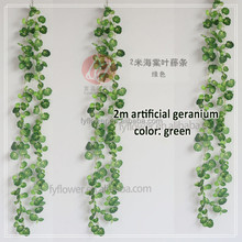342-700-900 factory direct fabric fake shopping mall restaurant decorating 2m artificial geranium ivy vine