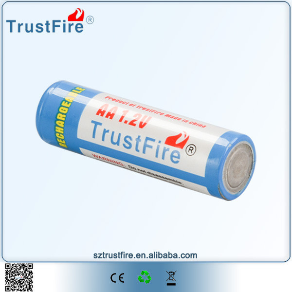 Automotive battery types TrustFire 1.2v AA rechargeable battery, small high capacity 2500mAh 14500 lithium ion batteries