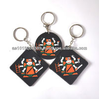 Eco-friendly-pvc rubber key chain for promotion gifts