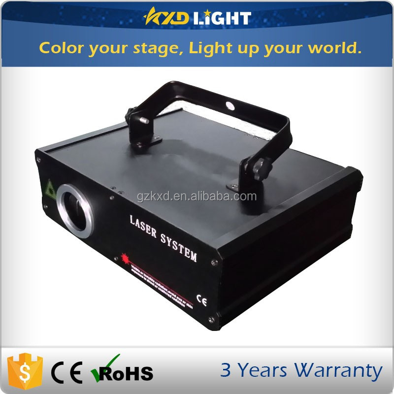 2017 Hot Sale 1W RGB 3D Special Effects Show Laser Disco Light for Christmas party with SD Card