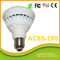 2015 Promotinal AC85-265V e27 8w par20 led spot light