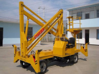 Storage battery and diesel engine power telescope boom lift