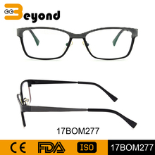 Manufacturers european style made in china wholesale women's fashion square metal prescription eyeglass frames