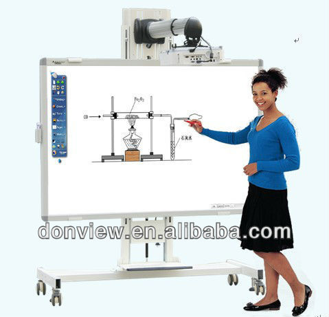 Dual pen smart electromagnetic white board with multilanguage teaching software for classroom, school, kids education