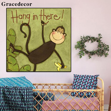 Cartoon Animal Sex Monkey Art Painting For Child Room