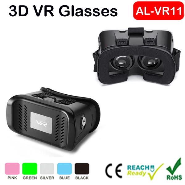 Mobile Phone Type 3D Clear Box 1080p Virtual Display 3d Video Glasses 2015 New Vr Headset With Bluetooth Speaker Remote