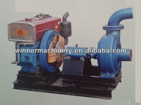 mine sand pump set with diesel engine, 4'' pump, flux 156m/h, 26m