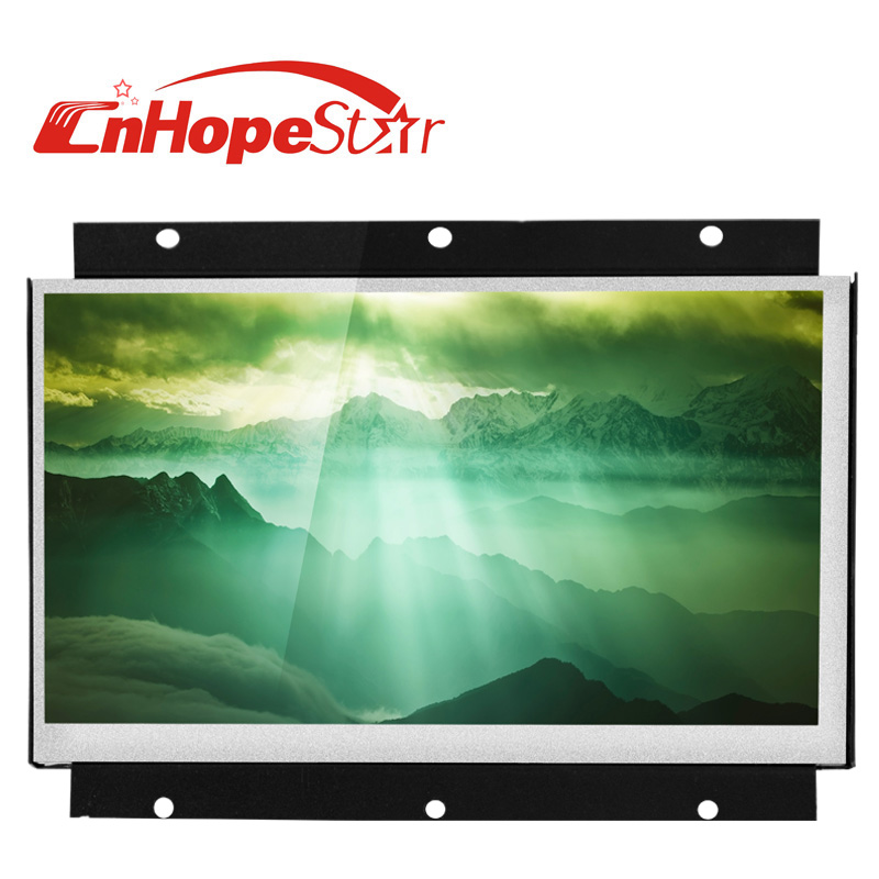 metal case dc12v 16:9 open frame 7inch taxi video advertising player