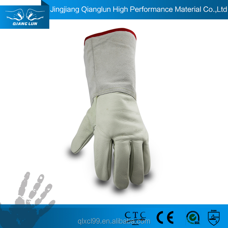 QL durable modeling waterproof leather hand heat resistant gloves
