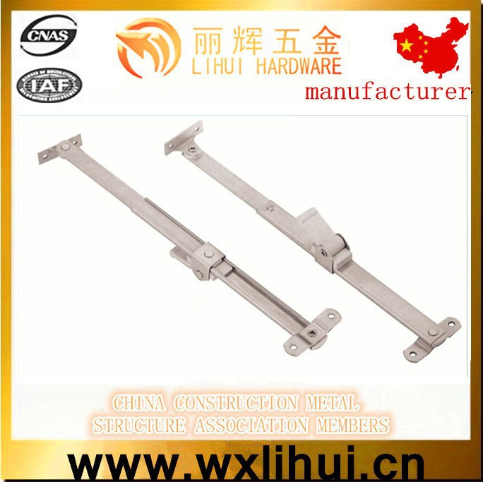 Stainless steel304/201limit position window support friction hinge ,telescopic friction stay hinge for top-hung window