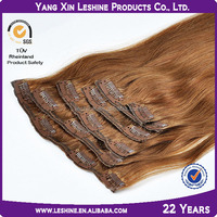 best selling double weft 5a6a grade factory price virgin remy wholesale cheap220g 30 inch human hair extensions clip in