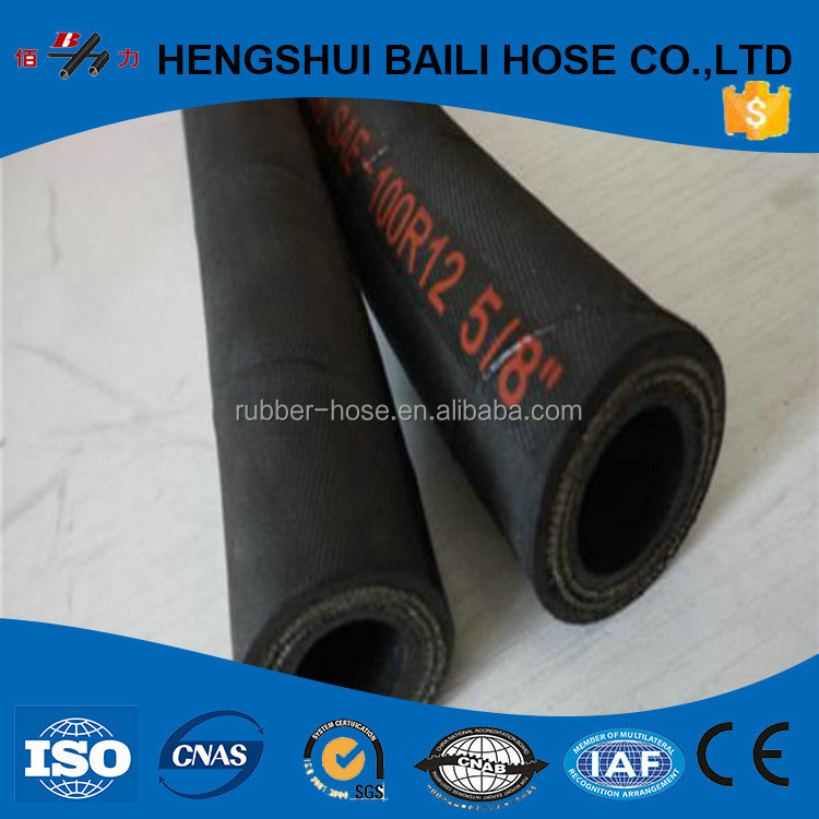 Cheap hot products surplus rubber hyd hoses SAE100R1/R2 DIN EN 853 1ST, 1SN, 2ST, 2SN Manuli hydraulic hoses