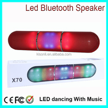 Innovative Products Pill Design LED Bluetooth Speaker Dancing With Music
