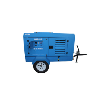 Portable 750cfm diesel screw air compressor