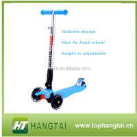 new product foldable aluminum bicycle 4 wheel scooter kick scooter