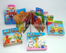 Kids sound book with push button customized recordable sound books