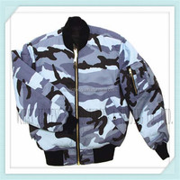 new style military ocean camouflage ma-1 flight jacket