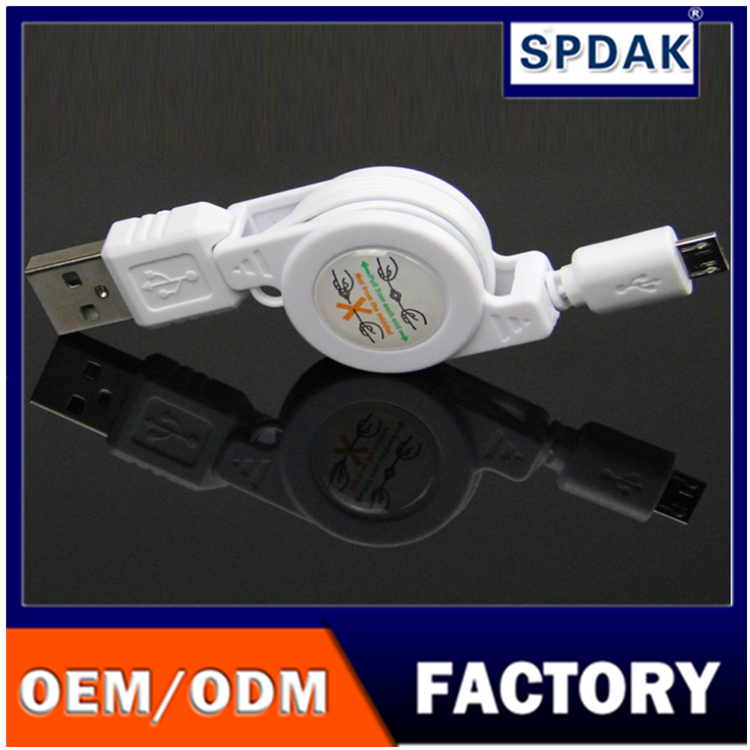 Manufacturers wholesale USB cable telescopic line Micro5P tensile cable USB
