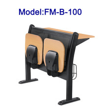 FM-B-100 Modern wood school desk and chair for lecture hall