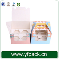 China Good Quality Cheap Cake Box Lager Square With Handle And Clear PVC Window Cupcake Gift Box Wholesale