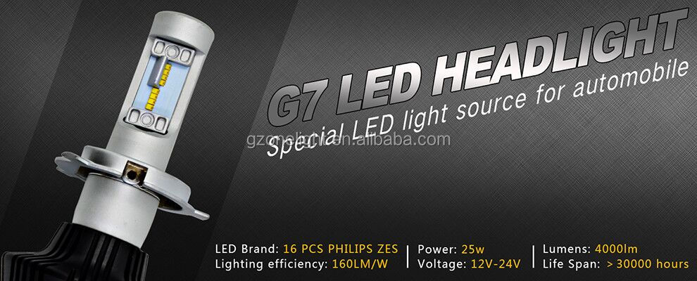 led car headlights super bright g7 white led bulbs car Led h4 motorcycle headlight h1 headlamp g7