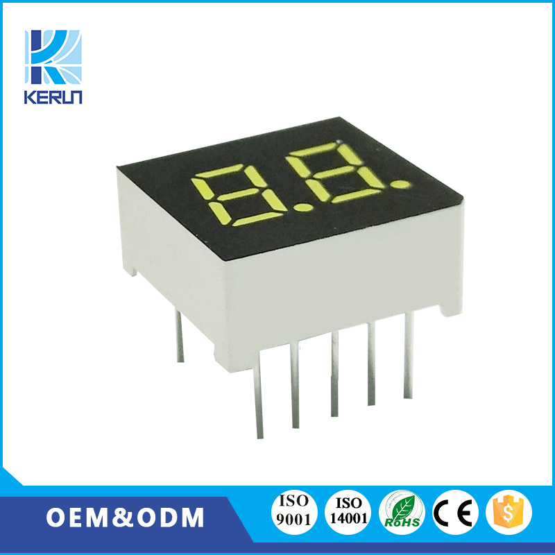 CE ROHS small size 0.3 inch 7 segment digit led module white display