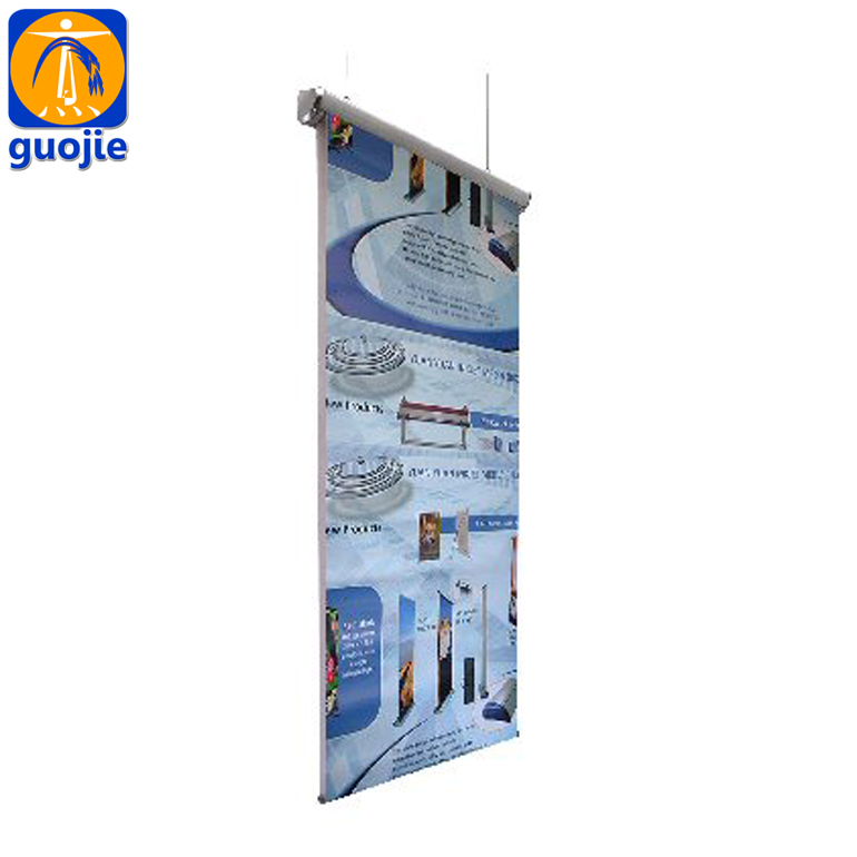 Large format billboard sign advertising hanging banner