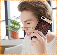 Cheap genuine leather phone case for iphone 7