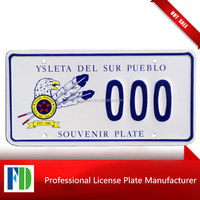 Ysleta Del Sur Pueblo Tigua Indians Texas souvenir license plate,switzerland license plate
