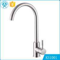 wholesale custom brushed health stainless steel single handle Thermostatic water kitchen sink faucet