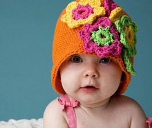 handmade flower baby hat crochet pattern