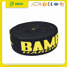 high grade fashion garment accessory elastic webbing with logo nylon webbing
