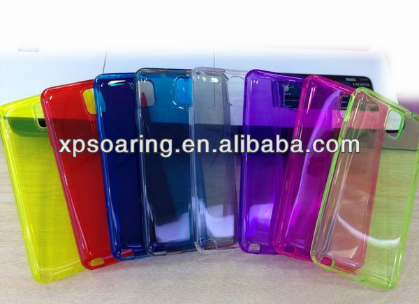Clear TPU rubber case skin cover for Samsung Galaxy Note 3 N9000