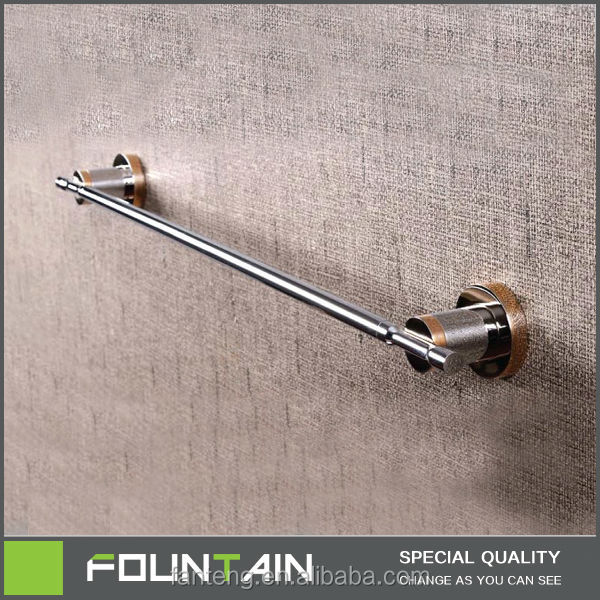 Bathroom Suction Cup Bronze Three Size Single Layer Removable Towel Bar