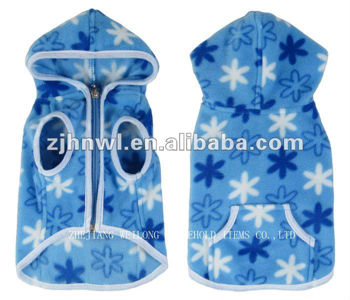 wholesale printed fleece dog hoodie/pet hoodie/dog clothes
