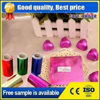 Hot selling colorful aluminum foil paper printing for food