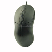 High Quality Novelty Small Portable Black Optical Wired Mouse , M-808