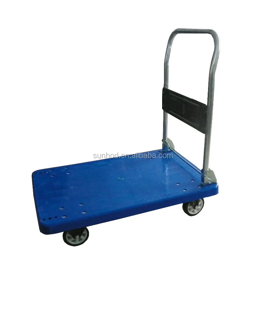 Good Quality High Stainless Steel 300 KGS Heavy Duty Platform Lift Hand Pallet Truck
