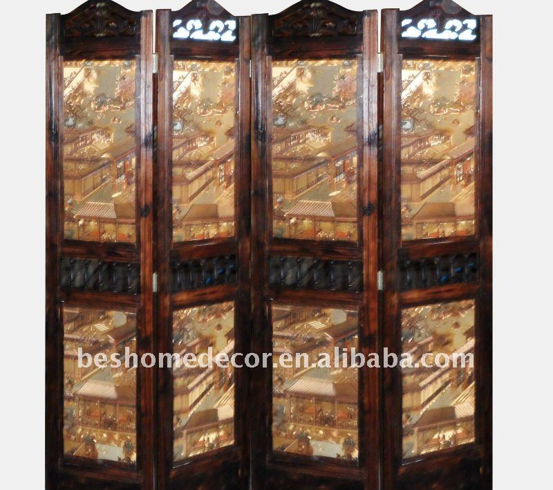 4 panel home decoration partition
