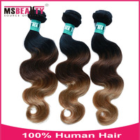 3 Tone 1B/4/27# Body Wave Virgin Brazilian Hair Blonde Human Hair Weave Brazilian Ombre Hair Extension