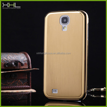 cheap brushed metal back case for samsung galaxy s4,mobile phone accessories factory in china