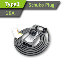 EV SAE J1772 Car Charger With Schuko Plug