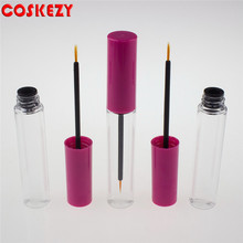 9g Empty Clear Eyeliner Plastic Tube, Wholesale Clear Plastic Eyeliner Cosmetic Container, Eyeliner Plastic Bottle with Pink Lid